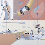 MONTEE DES RHOMBES Montée des Rhombes (80 x 80cm) exposition Ralentir, Galerie Christian Desbois 2001
